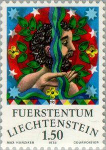Sello: Aquarius (Liechtenstein) (Zodiac) Mi:LI 716,Yt:LI 657,Zum:LI 654