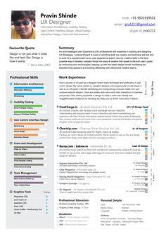 8 Best Ux Designer Resume Images Cv Design Design Resume Resume