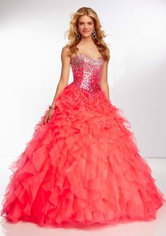 Coral pink grad dress <3 what yah think girls you like comment below!
