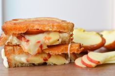 Grilled Cheese and Apple Sandwich with Sriracha Butter - I love me some Sriracha!!!