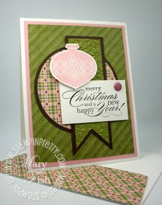 Stampin up holiday card idea big shot circle scissor plus tutorial Winter Cards, Holiday Cards, Christmas Cards, Green Christmas, Christmas 2014, Craft Sites, Scrapbook Cards, Scrapbooking, Pretty Cards