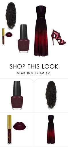 """""""dark outfit"""" by jordanbond55 ❤ liked on Polyvore featuring beauty, OPI, Elie Saab and GUESS"""