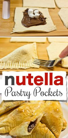 Nutella Pastry Pockets -- Made with Crescent rolls! So easy and yummy. (Super fun video tutorial!) | Fast Forward Fun #compartirvideos #funnyvideos