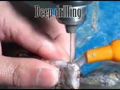 Drilling Gemstones and Semi Precious Stones - YouTube