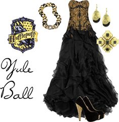 Harry potter preferences - your yule ball dress hufflepuff h Mode Harry Potter, Harry Potter Dress, Harry Potter Girl, Harry Potter Cosplay, Harry Potter Style, Harry Potter Outfits, Harry Potter Preferences, Yule Ball, Fandom Outfits
