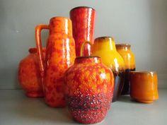 orange Henkelvase von susduett  auf DaWanda.com