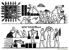 Brickmaking - Images of Ancient Brickmaking (Egyptian Customs at ...