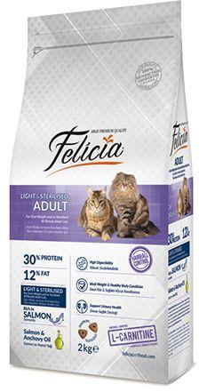 Felicia kedi mamaları, kedi maması, yetişkin kedi maması, kısırlaştırılmış kedi maması https://goo.gl/llgCib