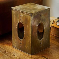 Steel Square Rivet Coppercolored Stool by WorldstockFairTrade, $115.49