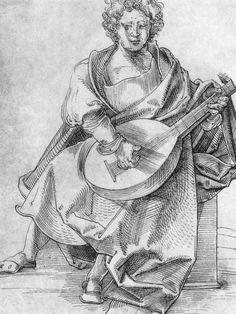 Artist: Schäufelein, Hans Leonhard, Title: Lautenspieler, Date: ca. 1509-1510