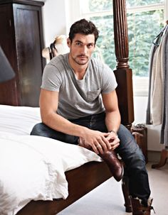 David Gandy l Casual Look… Top Male Models, David James Gandy, Book Boyfriends, Actor Model, Perfect Man, Gorgeous Men, Hello Gorgeous, Supermodels, Sexy Men