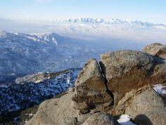 Oquirrh Mountains -- Salt Lake City, Utah. United States, North America. Farnsworth Peak lookout.