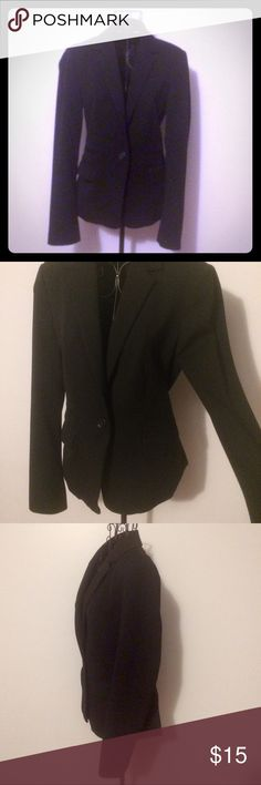 Classic Black Blazer - Professional Great black blazer with one button and double pocket detailing. Hardly worn, great condition. Express Jackets & Coats Blazers