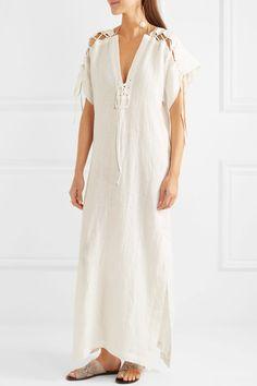 Marysia - Nantucket Lace-up Cotton Dress - Cream - x small