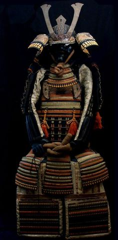 """Samurai Armor, not made of metal but of leather """"shingles"""" and padding that create protection"""