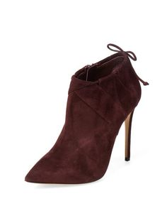 Suede Tie Ankle Bootie by Casadei at Gilt
