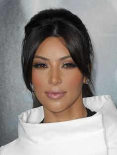 Kim Kardashian's make up.  She actually looks good here since she has a more natural look! Even though she still probably has a ton of make up on!