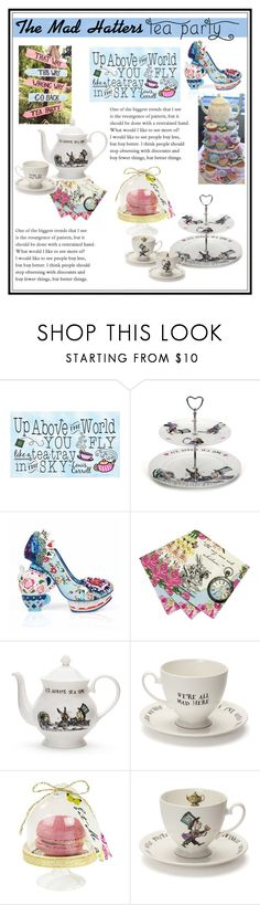 """The Mad Hatters Tea Party"" by fashionistamummy83 ❤ liked on Polyvore featuring interior, interiors, interior design, home, home decor, interior decorating, Mrs Moore's Vintage Store, Irregular Choice, Talking Tables and aliceinwonderland"