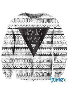 Hakuna Matata Aztec Crewneck - Fresh-tops.com