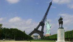 Eifeltoren met Vrijheidsbeeld