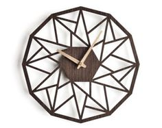 Modern wood wall clock 30 cm  12 in