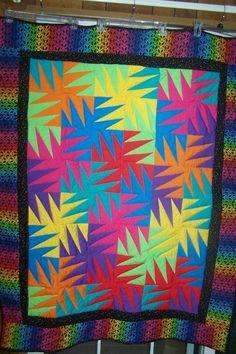 - Rainbow Zig Zag Quilt