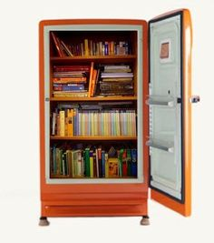 Convert an old refrigerator into a book safe.   27 Insanely Clever Ways To Display Your Books