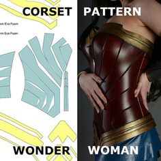 Wonder Woman Pattern Corset Template Costume Cosplay Armor