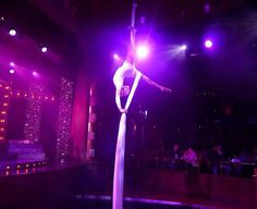 Silks performance on cruise ship by Katie Hardwick.