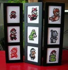 Clarington found an interesting frame and decided to stitch Marios to put in it. We love it! via[Forum]