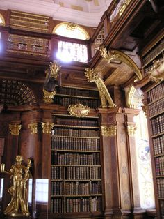 Melk Monastery Library in Melk, Austria.