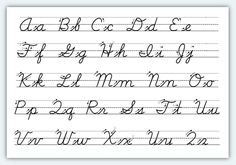 abc's in cursive writing - Google Search