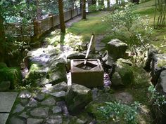 Bamboo water fountain- Japanese Garden, Portland, Oregon