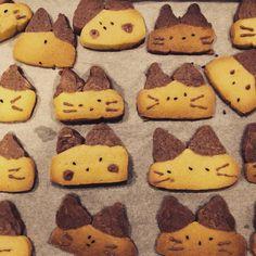 にゃんこクッキー アイスボックスクッキーねこ 金太郎クッキー バレンタイン