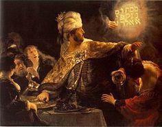 Rembrandt, El festín de Baltasar, 1635.