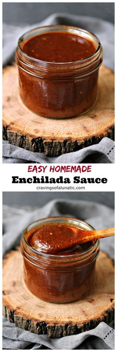 Easy Homemade Enchilada Sauce from cravingsofalunati.- This recipe is incredibly easy to make plus it is super quick. You can whip it up in about 20 minutes. That's perfect for anyone who wants to whip enchiladas quickly. (Cravings of a Lunatic) Homemade Enchilada Sauce, Homemade Enchiladas, Homemade Sauce, Mexican Enchiladas, Homemade Seasonings, Homemade Food, Barbacoa, Mexican Dishes, Mexican Food Recipes