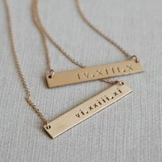 Absolutely love these necklaces! You can customize them with letters and roman numerals to include their name, initials, birthday, or anything else meaningful they'll love!