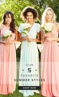 Cold weather has us lusting for summer styles! Sign up on Weddington Way to see which five are our favs (did we mention they're all under $200 and have pockets?!). Vintage Bridesmaid Dresses, Beautiful Bridesmaid Dresses, Bridesmaid Dress Colors, Bridesmaid Flowers, Brides And Bridesmaids, Wedding Dresses, Summer Wedding, Dream Wedding, Wedding Stuff