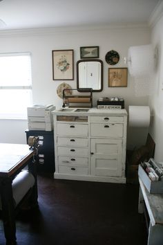 Home office, shop central with beautiful vintage details