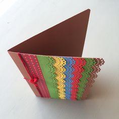 Tarjeta con cascada de colores