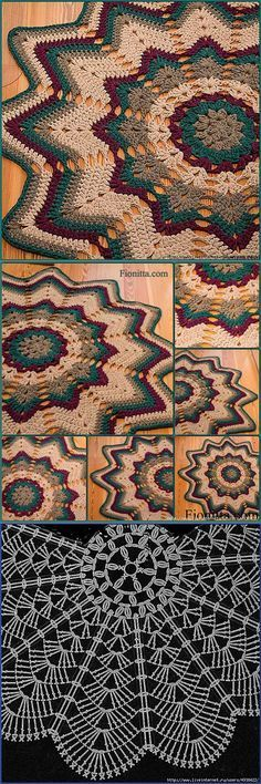 Poinsettia rug (think I'd skip the rest of the pieces, lol) Mais