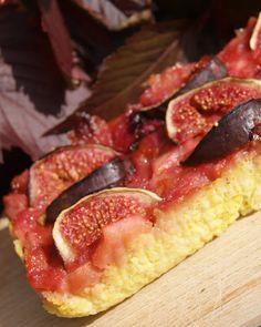 kasza jaglana zapieczona z musem owocowym i figą