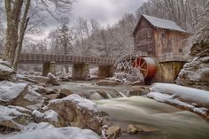 Glade Creek Grist Mill - Glade Creek Grist Mill, located at Babcock State Park, near Danese, WV