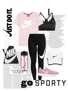 A fashion look from February 2018 by melsflowers featuring NIKE and sweatsesh Cute Sporty Outfits, Cute Workout Outfits, Workout Attire, Womens Workout Outfits, Sport Outfits, Trendy Outfits, Gym Outfits, Sporty Chic, Teen Fashion Outfits