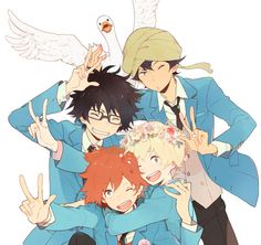Tsuritama - A show that I wish I could erase time and watch all over again for the first time. I have a lot of emotional attachments to it, and I'll never forget the time I finally watched the first episode. I had no idea what the heck I had just watched, all I knew was that I needed more of it. It gives me so many different feels, and I can honestly say that it changed me as a person. <3 I love all of my babies on this show. (Akira, you know you're still my hubby <3)