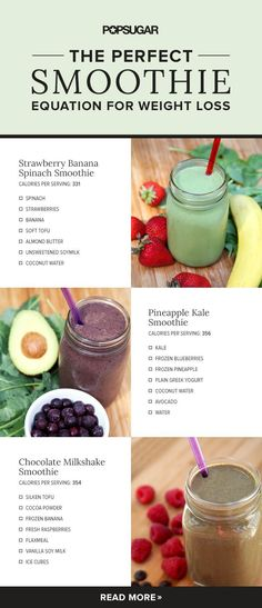 The perfect equation for how to make a filling, lip-smacking-good smoothie that will help you lose weight.