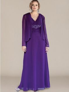 Chiffon Mother of the Bride Dress_Eggplant