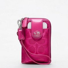Coach Signature Nylon ID Phone Case - i really want it but it's sold out :{