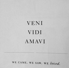 We came. We saw. We loved