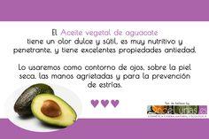 Aceite vegetal de aguacate en cosmética casera natural